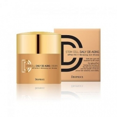 Deoproce Stem cell daily de-aging cream SPF50+/PA+++.40 гр.(Корея)