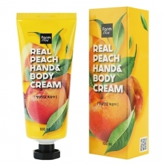 Farmstay Real Peach Hand & Body Cream.100 мл.(Корея)