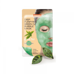 PUREDERM Deep Purifying Green O2 Bubble Mask Green Tea.(Корея)