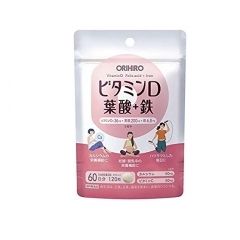 Orihiro Витамин D, фолиевая кислота + железо. Упаковка на 60 дней.