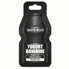 Yogurt Bonimini Wash Off Mud Pack Charcoal Skin's Boni.15 мл.(Корея)