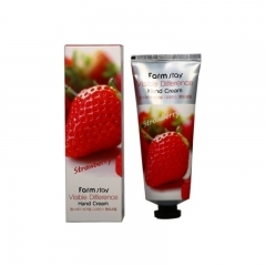FarmStay Visible Difference Hand Cream Strawberry. 100 гр.(Корея)