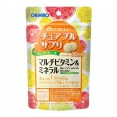 Orihiro Мультивитамины и Минералы со вкусом грейпфрута.На 30 дней.