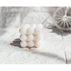 """Интерьерная свеча из 100% кокосового воска «Bubble Cube"""".145 гр"""