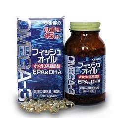 ORIHIRO Omega 3 - омега 3. На 45 дней.180 капсул